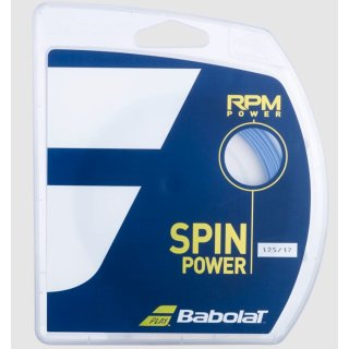 Babolat RPM POWER Tennissaite |12M SET | bleu electrique | 125