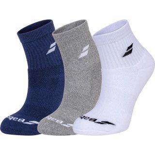 Babolat 3 PAIRS PACK Junior Tennissocken | weiß/blau/grau |