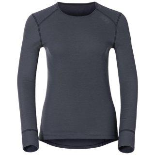 Odlo Langarmshirt WARM | Damen | grau/schwarz |