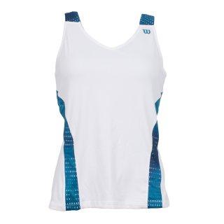 Wilson Tennis Top | Damen | weiss/blau |