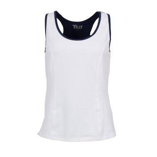 Tilly Top | Damen | weiß/dunkelblau |
