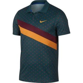 NikeCourt Dri-FIT Polo l Herren l NIGHTSHADE/CANYON GOLD l