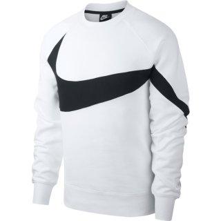 Nike Swoosh Sweatshirt l Herren l weiss/schwarz l