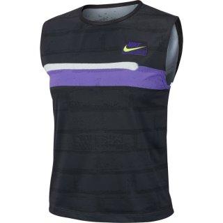 Nike Court Slam Tennis Top l Damen l schwarz/ lila/ weiss l