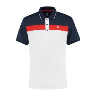 K-Swiss Heritage Polo | Herren | weiß/rot/navy |