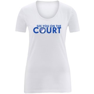 1899 TC BW T-Shirt See you on the Court | Damen | white |