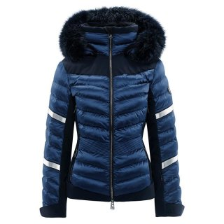 Toni Sailer Madita Splendid Fur Skijacke | Damen | metallic blue |