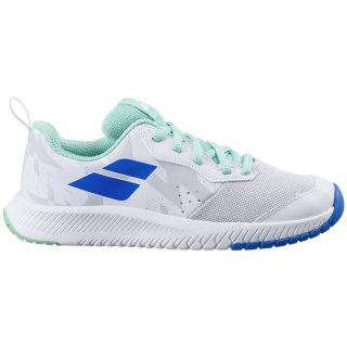 Babolat Pulsion All Court Tennisschuhe | Kinder | White Biscay Green |