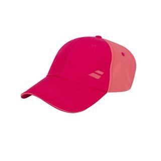 Babolat Basic Logo Cap Junior   Kinder   Red Rose   one size
